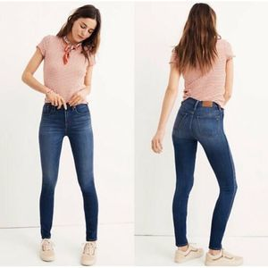 """Madewell 10"""" High-Rise Skinny Jeans Dark Wash 28"""